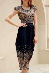 Simple Style Women's Short Sleeve Polka Dot Print Dress
