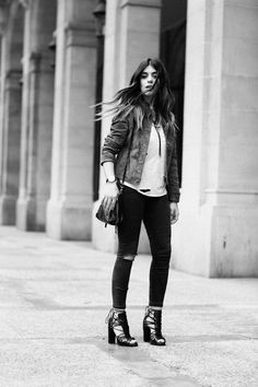 Los mejores looks de Dulceida Spanish Fashion, European Fashion, International Brands, Boho, Casual Chic, Everyday Fashion, Spring Outfits, Bomber Jacket, Punk