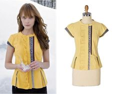 Rare Anthropologie 2008 Floreat Morning Surprise Blouse 6 Embroidered Ruffled  #Anthropologie #Blouse #Casual