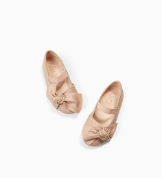 LEATHER BALLERINAS WITH BOW-NEW IN-BABY GIRL | 3 months - 4 years-KIDS | ZARA United States