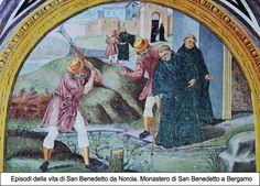 Cristoforo Baschenis il Giovane (1560 ca.- 1626) - Scene della vita di San Benedetto da Norcia - affreschi - 1597 - Monastero di San Benedetto a Bergamo (Italia)