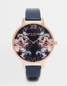 Olivia Burton Floral Big Dial Watch: $144