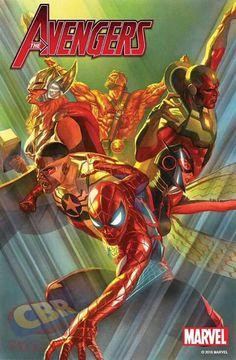 Marvel Comics Releasing Avengers # 1 - Cover by Alex Ross Captain Marvel, Captain America, Marvel Now, Marvel Comics Art, Marvel Heroes, Cosmic Comics, Thor Marvel, Comic Book Characters, Marvel Characters