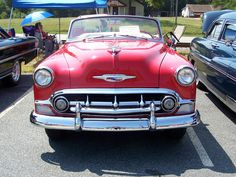 1953 CHEVY BEL AIR Car Trailer, Trailers, Classic Car Insurance, Gm Car, Full Frontal, Go Red, Chevrolet Bel Air, Heartbeat, Car Show