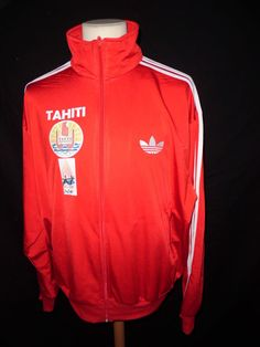 Rare veste de survêtement Jeux Olympiques du PACIFIQUE TAHITI Adidas Rouge Taill in Clothes, Shoes & Accessories, Men's Clothing, Coats & Jackets | eBay