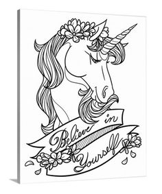 Look what I found on #zulily! 'Believe in Yourself' Coloring Canvas #zulilyfinds