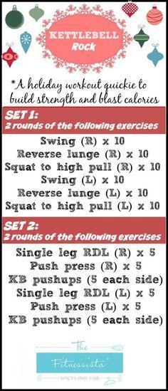 Kettlebell rock workout