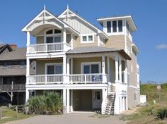 8 Bedroom Oceanfront Rental House in Nags Head, part of the Outer Banks of North Carolina. Includes Elevator, Private Pool, Hot Tub