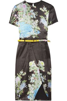 Preen|Akiko printed silk dress|NET-A-PORTER.COM