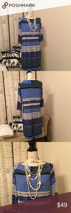 Donna Morgan Dress Donna Morgan Dress.  Blue & White Donna Morgan Dress.  22Wx37L SALE!  NO OFFERS. Donna Morgan Dresses