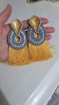 Bead Embroidery Jewelry, Soutache Jewelry, Beaded Embroidery, Tassel Earrings, Ring Earrings, Crochet Earrings, Jewelry Making Tutorials, Deli, Jewelry Crafts