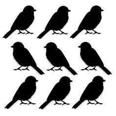 Art Stencil Template Birds in a Row
