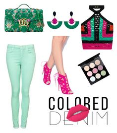 """Untitled #16"" by tulip460 on Polyvore featuring Balmain, Gucci, Toolally and Lime Crime"