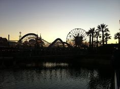 Disneyland - California Adventure at Sunset.