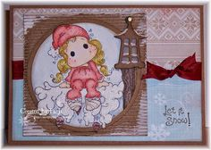 Stampin'Pipers Magnolias: Let it snow