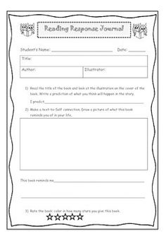 This activity is great for independent or guided reading. Students are predicting, making connections and rating their text. This resource can be used with any book and is targeted to: K-3 years. Used for personal use only.
