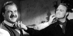 Karl Malden, Marlon Brando - One Eyed Jacks set