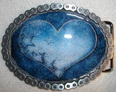 Hey, I found this really awesome Etsy listing at https://www.etsy.com/listing/107560945/sparkling-blue-heart-belt-buckle