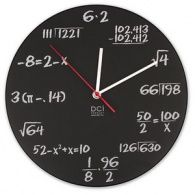 Pop Quiz Math Clock - ThinkGeek