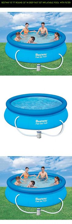 "Bestway 10' ft Round 30"" in Deep Fast Set Inflatable Pool with Filter #plans #racing #parts #tech #technology #inches #products #drone #deep #gadgets #shopping #camera #pools #fpv #30 #kit"