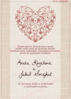 Košík - editor.svatba-oznameni.cz Wedding Planning, Bullet Journal, How To Plan, Ticket Invitation