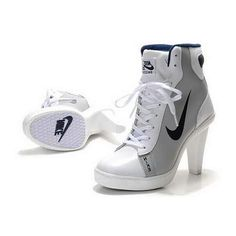 competitive price 82d13 d9595 Nike Swoosh High Heels Grey White