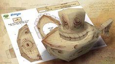 Leonardo Da Vinci Submarine Paper Model - by British Broadcasting Corporation