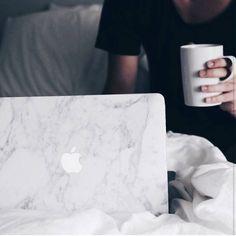 Coffee in the morning. | www.uniqfind.com | #marblemac #macbook #uniqfind