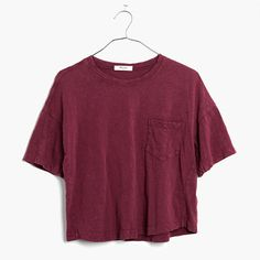 Slouchy and slightly cropped, this textural slub tee is garment-dyed for cool dimensional color.  <ul><li>Slightly cropped, boxy fit.</li><li>Cotton.</li><li>Machine wash.</li><li>Import.</li></ul>