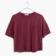 Slouchy and slightly cropped, this textural slub tee is garment-dyed for cool dimensional color. <ul><li>Slightly cropped, boxy fit.</li><li>Cotton.</li><li>Machine wash.</li><li>Import.</li></ul>