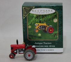 Colorway Red Antique Tractors KOCC Anniversary Hallmark Mini Ornament Repaint