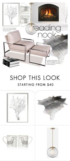 """""""Reading Nook"""" by rosidew ❤ liked on Polyvore featuring interior, interiors, interior design, home, home decor, interior decorating, Amanti Art, Vanguard, GAS Jeans and Kate Spade"""