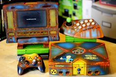 Custom Modded Original Xbox Console W/ Themed Art. Upgraded Hdd Loaded w/ arcade & complete retro consoles - Ps1, ATARI 2600, ATARI 5200/XL, ATARI 7800, ATARI LYNX, INTELLIVISION, COLECO VISION, NINTENDO NES, SUPER NINTENDO, SUPER FAMICON, N64, SEGA GENESIS, SG-1000, SEGA MASTER SYSTEM, SEGA 32X, SEGA CD, GAME GEAR, GAMEBOY, GAMEBOY COLOR, GAMEBOY ADVANCE, TURBO GRAFX, PC CD, NEO GEO CDZ, NEO GEO POCKET & Many More. Hacked & Homebrew games from Zelda, Pokemon, Megaman, Mario, Metroid...etc