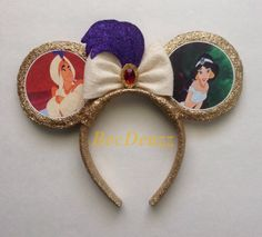 Aladdin inspired Minnie Mouse ears headband