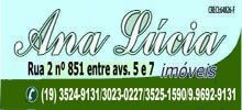 Ana Lúcia Raulino Rua 2 n.851 - Av. 5 e 7 - Centro F.(19) 3524-9131/3023-0227/3525-1590/99692-9131 RIO CLARO / SP analuciaimoveisrc@outlook.com