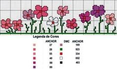 Pinned onto Cross Stitch Board in Embroidery Patterns Category Cross Stitch Boarders, Cross Stitch Bookmarks, Mini Cross Stitch, Cross Stitch Flowers, Cross Stitch Charts, Cross Stitch Designs, Cross Stitching, Cross Stitch Embroidery, Cross Stitch Patterns