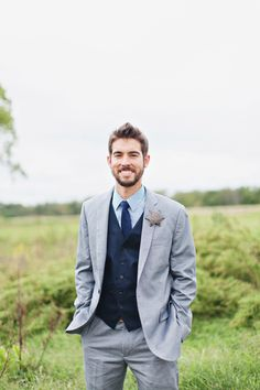 gray + navy groom | Flora and Fauna #wedding