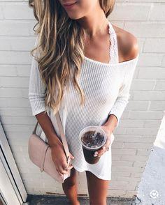 White sweater.