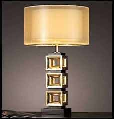 Gold hotel table lamp  Model :MTK10082  Size:H750*Φ370(mm)  Material:POLI、high quality steel、silk shade、copper、gold foil、etc  Voltage:110-240V  lighting source:E27*60W*1  MOQ:80pcs  More info: http://www.hotellightingled.com/gold-hotel-table-lamp.html