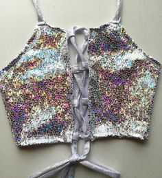 Lace Me Up Shattered Disco Halter Top