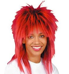 1980s Fancy Dress, 1980s Dresses, Shoulder Length Layered, Red Wigs, Black Layers, Outfits, Style, Hair, Swag