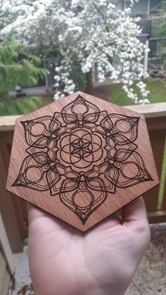 °Geometric Flower with Seed of Life Design by AwakenMinerals