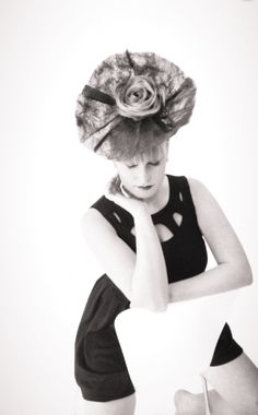 #hair up #hair style #rose #black and white #photo shoot #servilles