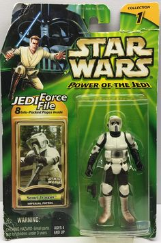 (TAS032463) - 2000 Hasbro Star Wars Power of the Jedi Figure - Scout Trooper