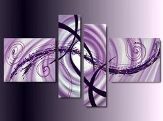 4 quadri dipinti a mano tele moderne
