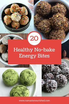 Healthy No-Bake Energy Bites | No Bake Protein Balls