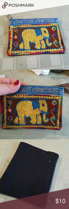 New cute elephant purse New cute elephant cars holder change purse Bags