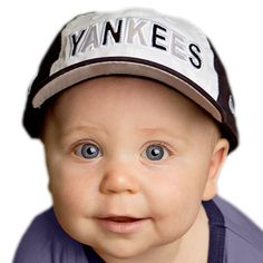 Your Yankees baby will look and feel cool and comfortable in this great looking baseball cap! The 100% cotton cap features official team colors, embroidered team name and logo, and an elasticized strap in the back for a snug and comfy fit. Fits most Yankees infants ages 6-18 months.
