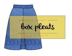 How to draft box pleats