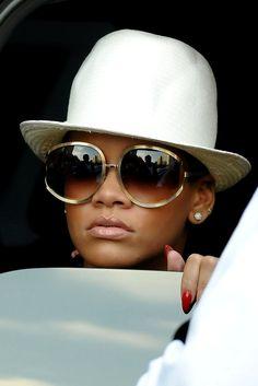 gold frames. sunglasses. glam. summer 2014 trend. rihanna.